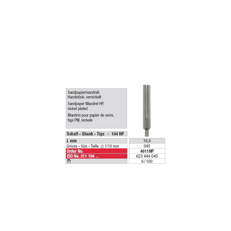 Mandrin pour papier de verre - 4011HP
