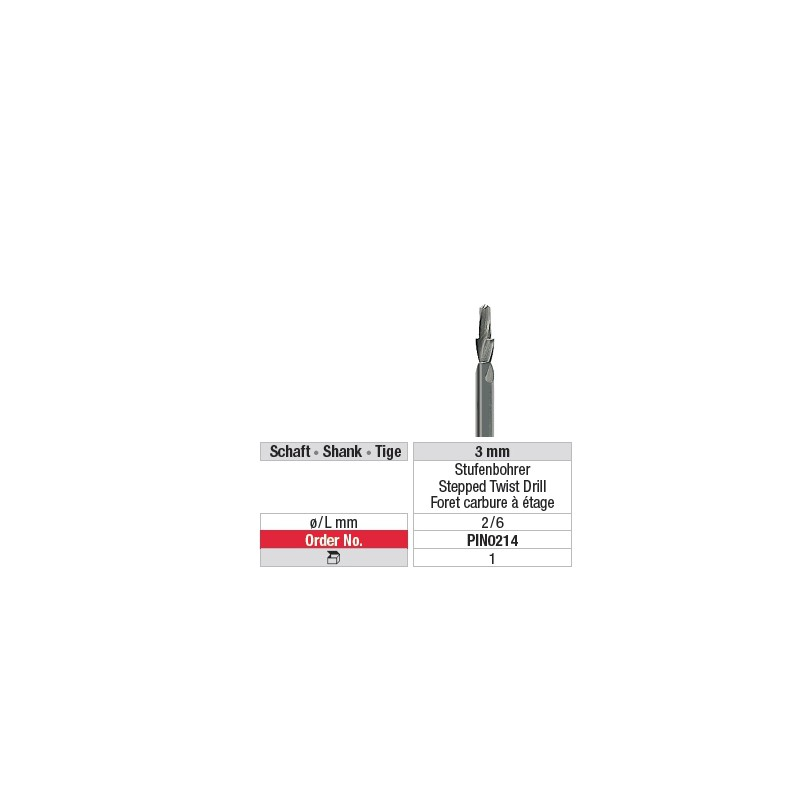 Foret carbure à étage - PIN0214