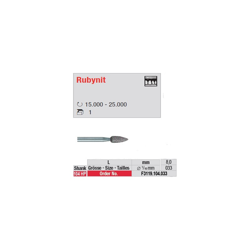 Fraise Rubynit flamme (grain fin) - F3119.104.033