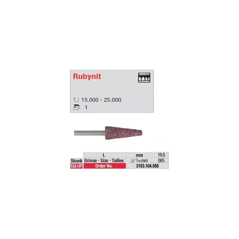 Fraise Rubynit cône bout plat - 3103.104.065