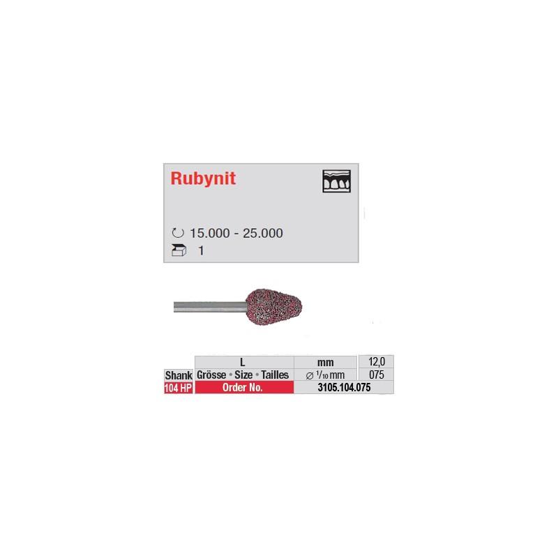 Fraise Rubynit cône bout arrondi - 3105.104.075