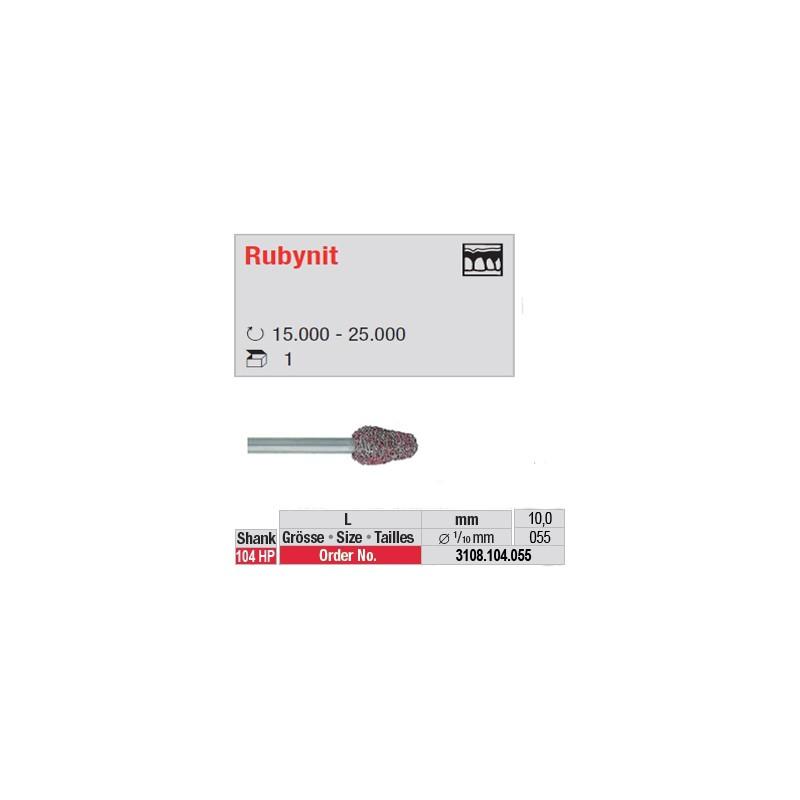 Fraise Rubynit cône bout arrondi - 3108.104.055