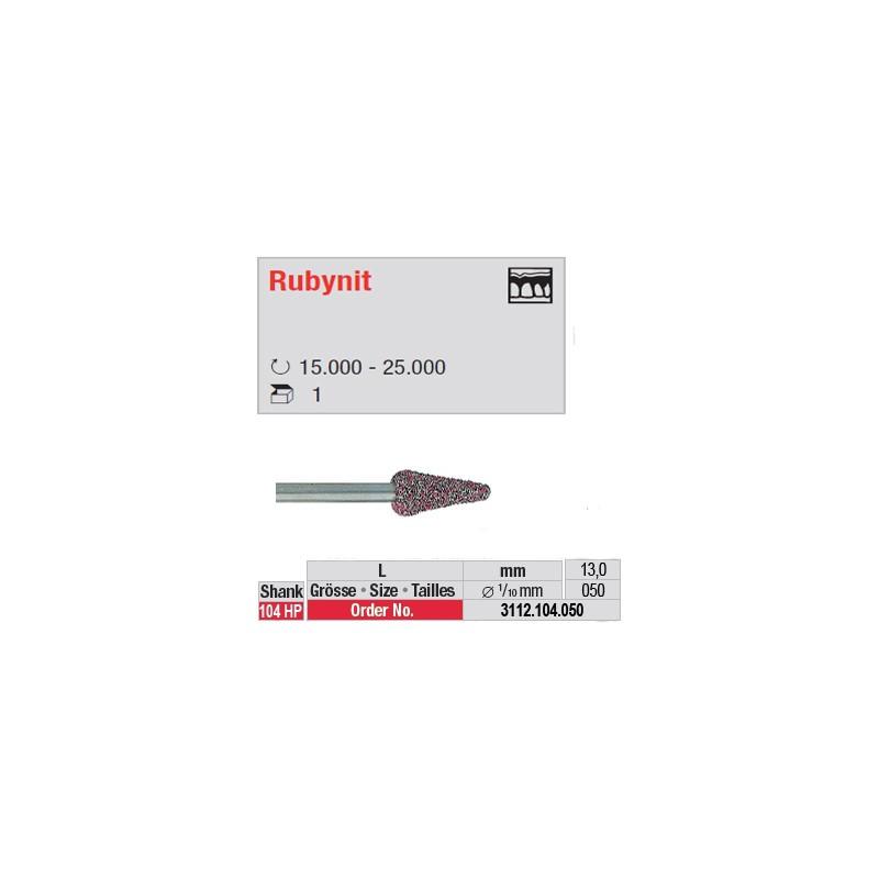 Fraise Rubynit cône bout arrondi - 3112.104.050