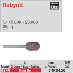 Fraise Rubynit cylindre bout arondi - 3110.104.055