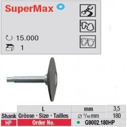 Fraise SuperMax lentille (gros grain)- G9002.180HP