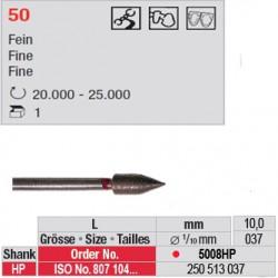 Fraise diamantée dans la masse grenade (grain fin) - 5008HP