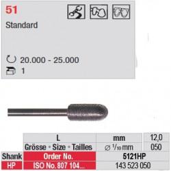 Fraise diamantée dans la masse cylindre bout arrondi - 5121HP