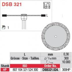 Disque diamanté dans la masse (surface marginale) - DSB321.524.300HP