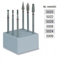 Set de fraisage diamantés dans la masse (grain fin) - 5000SO