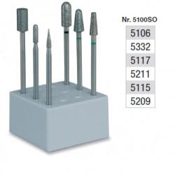Set de fraisage diamantés dans la masse (grains divers) - 5100SO