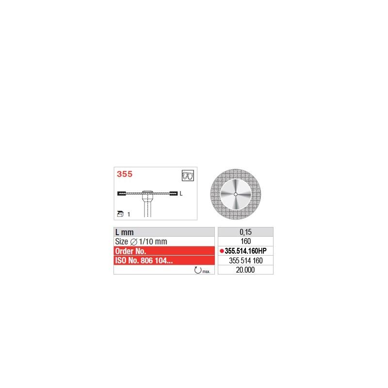 Disque diamanté SUPERFLEX (fin) - 355.514.160HP