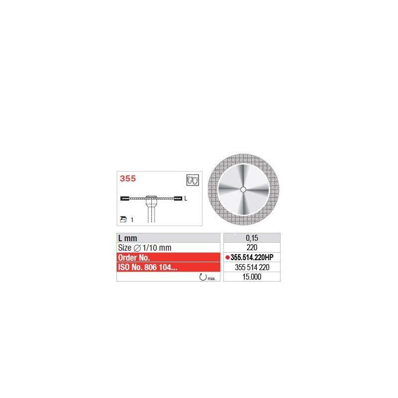 Disque diamanté SUPERFLEX (fin) - 355.514.220HP