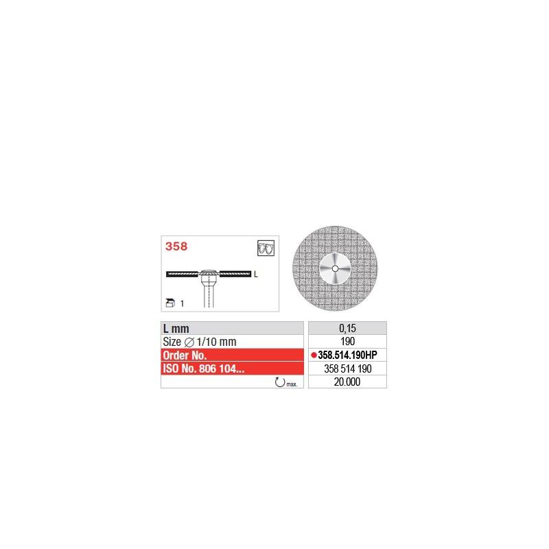 Disque diamanté SUPERFLEX (fin) - 358.514.190HP