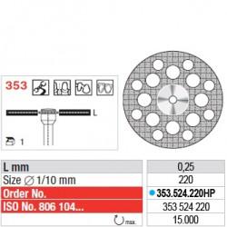 Disque diamanté SUPERFLEX - 353.524.220HP