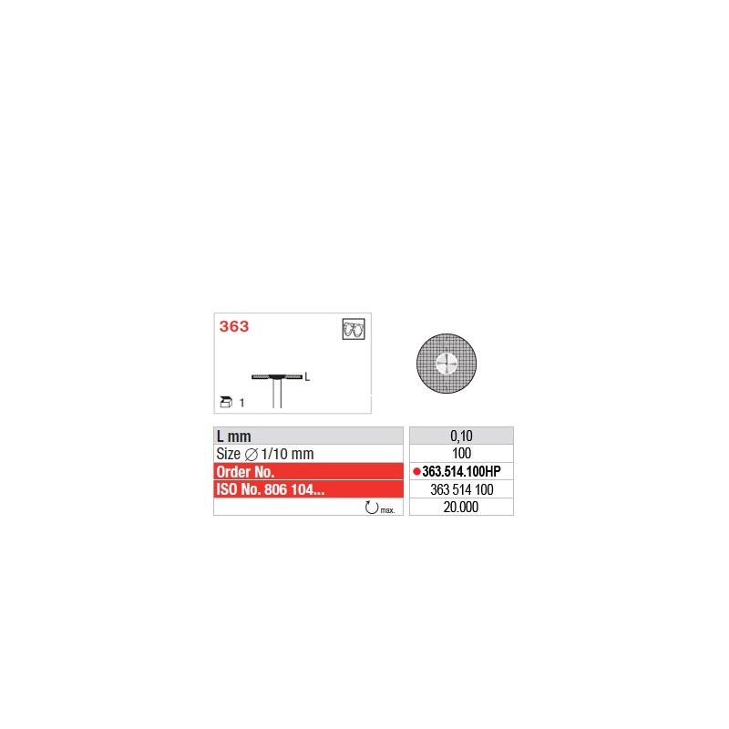 Disque diamanté SUPERFLEX (actif inférieur) - 363.514.100HP