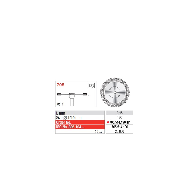 Disque diamanté SUPERFLEX (fin) - 705.514.190HP