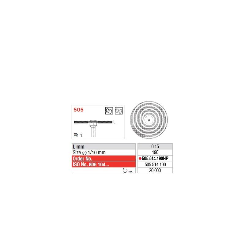 Disque diamanté SUPERFLEX Turbo (fin) - 505.514.190HP