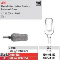 Fraise diamantée creuse - 490.104.110