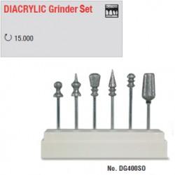 Set de fraisage diamant DIACRYLIC - DG400SO
