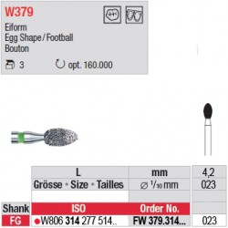 Diamant WhiteTIGER œuf (grain fin) - FW379.314.023