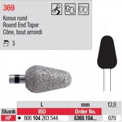Diamant PM cône bout arrondi (très gros grain) - 5369.104.070