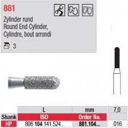 Diamant PM cylindre bout arrondi - 881.104.016
