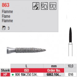 Diamant PM flamme (gros grain) - 6863.104.016