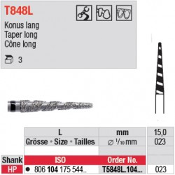 Diamant Turbo cône long (très gros grain) - T5848L.104.023