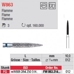 Diamant WhiteTIGER flamme (grain fin) - FW863.314.012