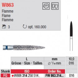 Diamant WhiteTIGER flamme (grain fin) - FW863.314.016