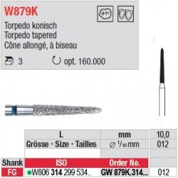 Diamant WhiteTIGER cône allongé à biseau (gros grain) - GW879K.314.012