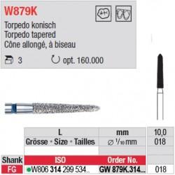 Diamant WhiteTIGER cône allongé à biseau (gros grain) - GW879K.314.018