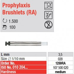 Prophylaxis Brushlets (RA) - medium - 1259RA