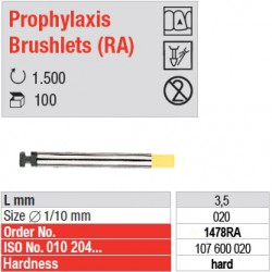 Prophylaxis Brushlets (RA) - hard - 1478RA
