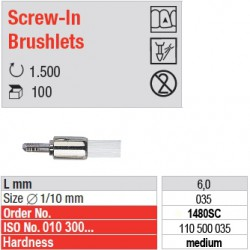 Screw-In Brushlets  - medium - 1480SC