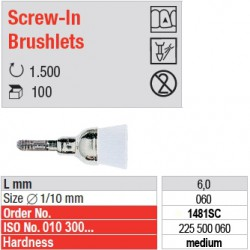 Screw-In Brushlets  - medium - 1481SC