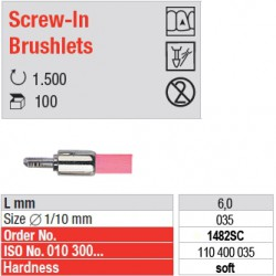 Screw-In Brushlets  - soft - 1482SC