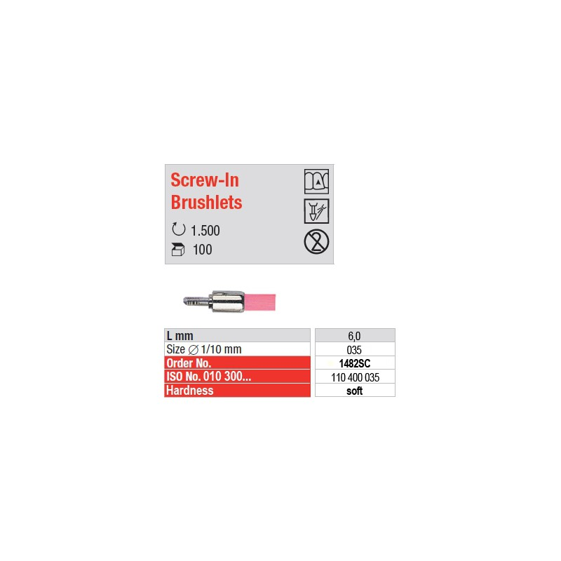 Screw-In Brushlets  - soft - 1482SC