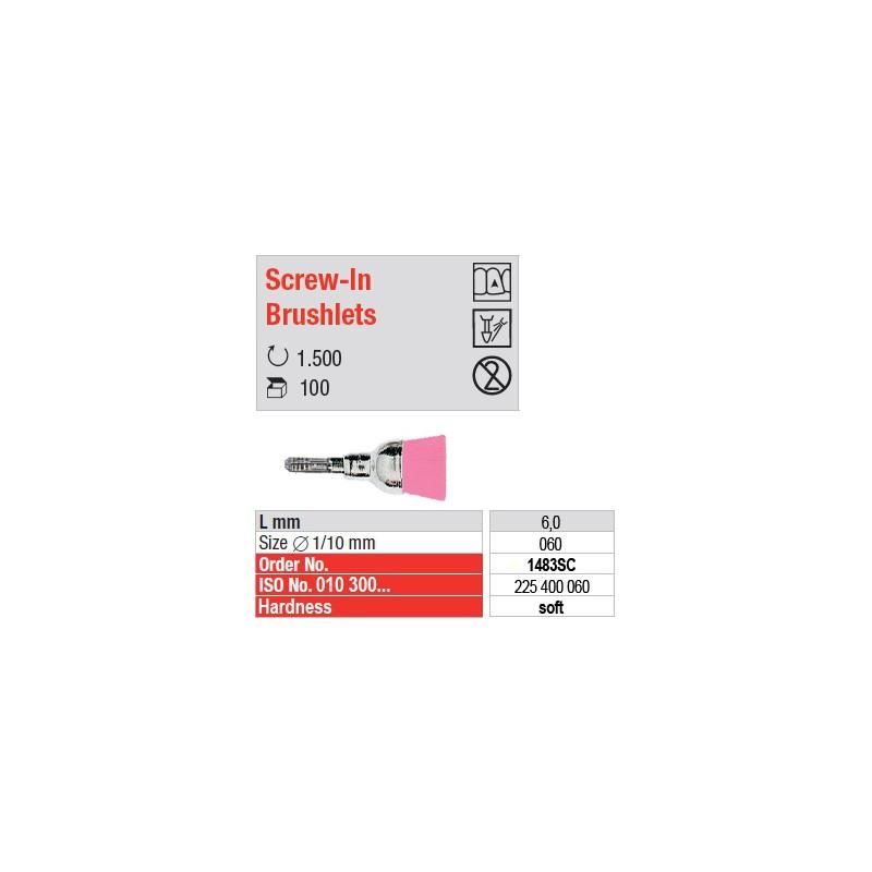 Screw-In Brushlets  - soft - 1483SC