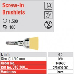 Screw-In Brushlets  - hard - 1486SC