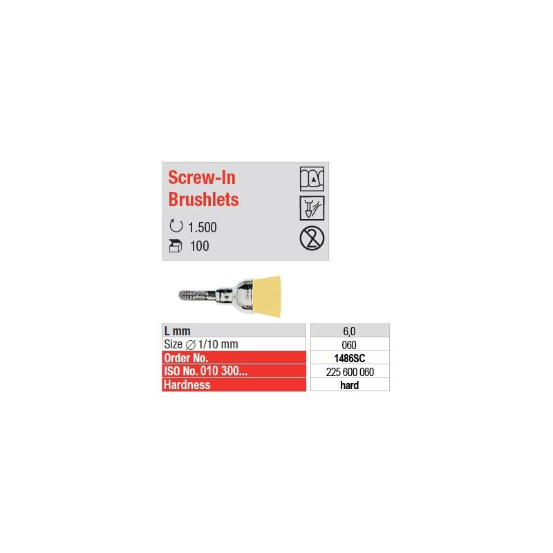 Screw-In Brushlets  - hard - 1486SC