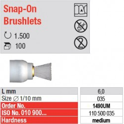 Snap-On Brushlets - medium - 1490UM