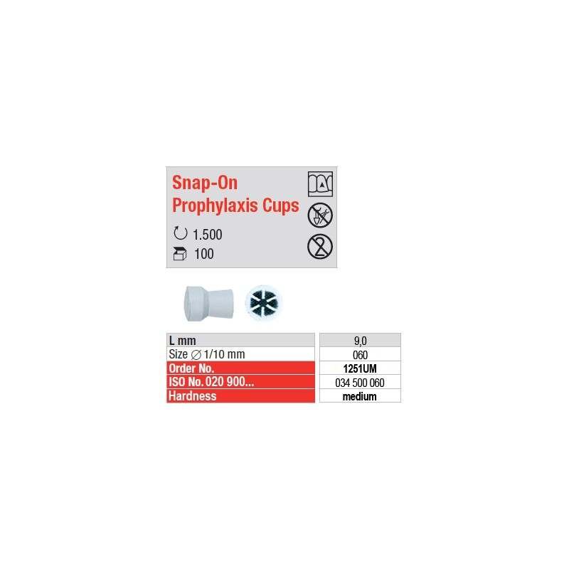 Snap-On Prophylaxis Cups - 1251UM