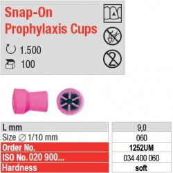 Snap-On Prophylaxis Cups - 1252UM