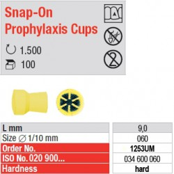Snap-On Prophylaxis Cups - 1253UM