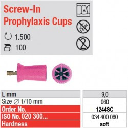 Screw-In Prophylaxis Cups - 1244SC