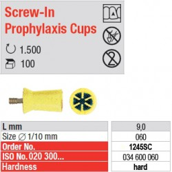 Screw-In Prophylaxis Cups - 1245SC