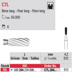 C7L - Fraise carbure de tungstène - C7L.204.012