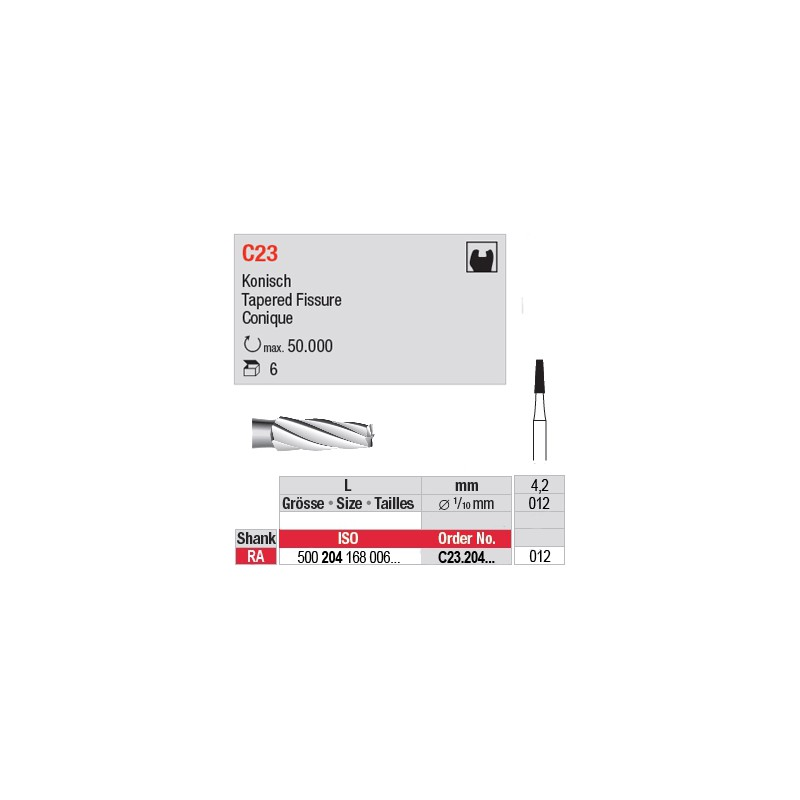 C23 - Fraise carbure de tungstène - C23.204.012