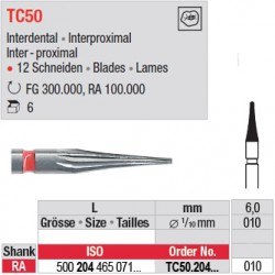Fraises à finir en C.T. - TC50.204.010